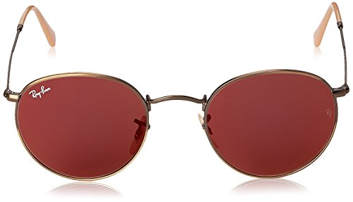 29e8e36e9d ... reduced amazon ray ban round metal demiglos brusched bronze frame red  mirror lenses 50mm non polarized