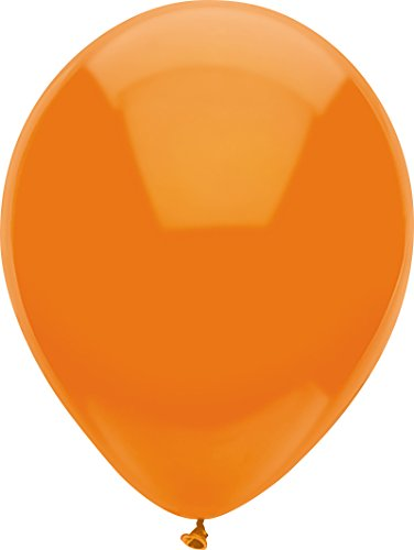 PartyMate 71984 Made in the USA Standard Color 5-Inch Latex Balloons, 50-Count, Bright -