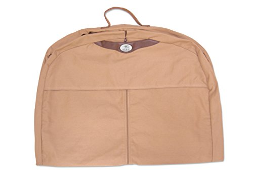 ZEP-PRO NCAA Alabama Crimson Tide Men's Canvas Concho Garment Bag, Khaki, One Size ()