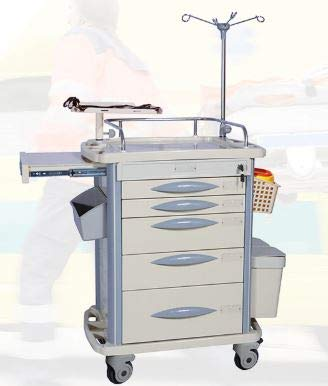MS3C-110T Lite Mobile Emergency Crash Cart with Accessories