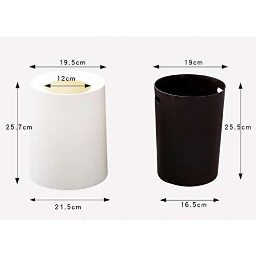 33.5x26x26 cm Archivo 2000 949894 Papeleras Resistentes a Golpes y ralladuras Negro