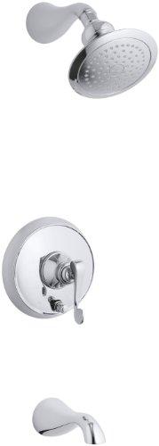 - KOHLER K-T16115-4-CP Revival Rite-Temp Pressure-Balancing Bath and Shower Faucet Trim, Polished Chrome