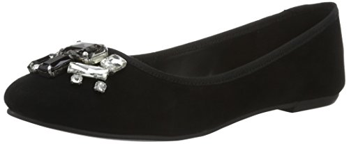 Ballet 01 4052 Women's Black London Black Buffalo Suede Kid 216 Flats ZPYPBxw