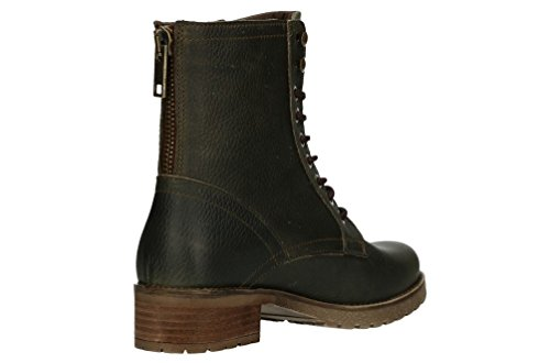 Oscuro low Baja Touressa Botines Mujeres De Boots Caña Negro Bullboxer Verde Botas 6PwAZU