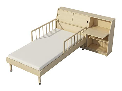- Single Bed Storage Headboard Plans DIY Night Stand Chest Bookcase Storage Shelf