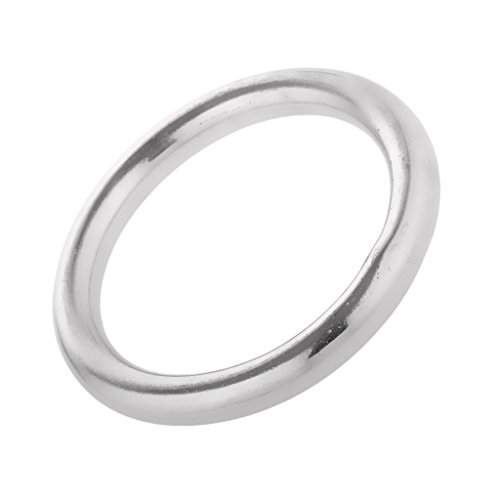 Jili Online High Strength Marine 304 Stainless Steel Welded Round O Rings Boat Rigging Hardware 1 6  2  2 4  2 8  3 1  3 5  3 9  Diameter   Silver  7 X 50Mm