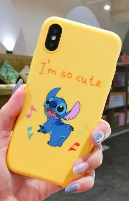 Cartoon Stitch Phone Fundas For iPhone XR Matte Colorful Cases For