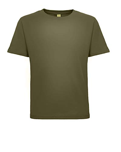 Next Level Baby Boy's Cotton Tear-Away Label T-Shirt, Military Green, 3T
