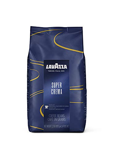 Lavazza Super Crema Espresso Beans - 2.2Lb Bags (Case of 6) 35.2 Ounces