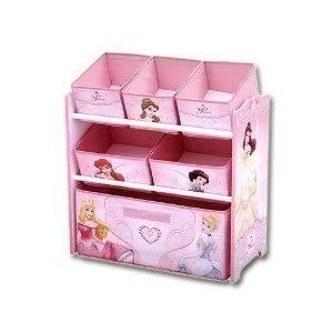 Delta Disney Princess Multi 5 Fabric Storage Bins Toy Box Organizer    Neatly Store Toys U0026