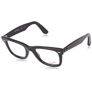 Ray-Ban Unisex RX5121-2000 Black Frame Wayfarer Square 50mm Eyeglasses