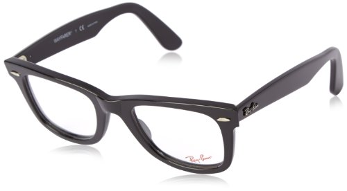 Ray-Ban Unisex RX5121-2000 Black Frame Wayfarer Square 50mm - Ray Eyeglasses Ban Amazon