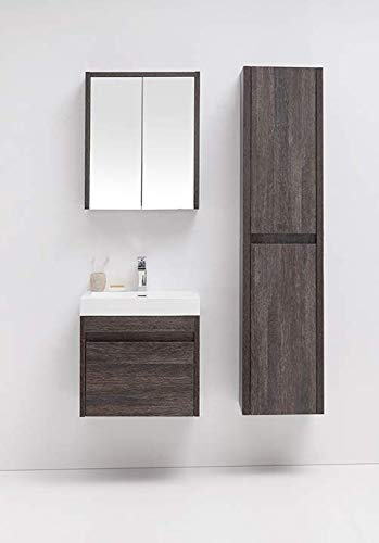 Invictus Wall Hung Bathroom Vanity 24 inch - Modern Design Floating Vanity, Acrylic Countertop with Sink & Smart Cabinet Drawers (24