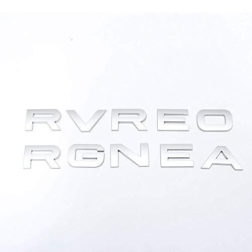 1Set 3D Head Cover Hood Front Letters Emblem Sports Line Badge Letter Emblem for Range Rover for Land Rover car Stickers Decal Logo(Matte Silver