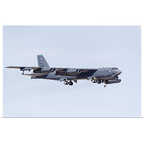 GREATBIGCANVAS Poster Print Entitled A U.S. Air Force B-52H Stratofortress on Final Approach to Nellis Air Force Base. by 36