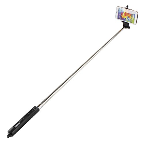 kootek bluetooth selfie stick self portrait shot monopod hand grip with remote control shutter. Black Bedroom Furniture Sets. Home Design Ideas
