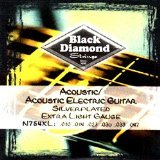 Black Diamond 754XL Acoustic-Electric Silverplated Guitar Strings, Extra Light by Black Diamond