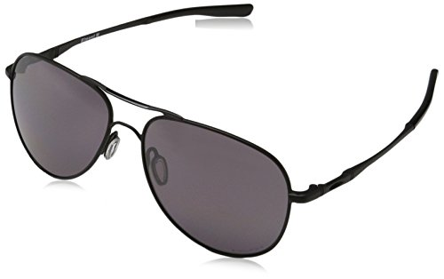 (Oakley Elmont M & L Polarized Aviator Sunglasses, Matte Black, 58)