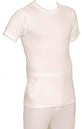 RP Collections® British Made Bargain Mens Thermal Short Sleeve T-Shirt Vest Top Colour White] OCMT1056-XW