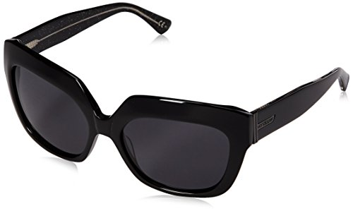 VonZipper Women's Poly Cateye Sunglasses, Black Glitter/Glitter Grad, 57 - Poly Sunglasses