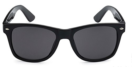 Kids Childrens 80's Classic Retro Sunglasses - Variety of styles and colors (Classic Black)