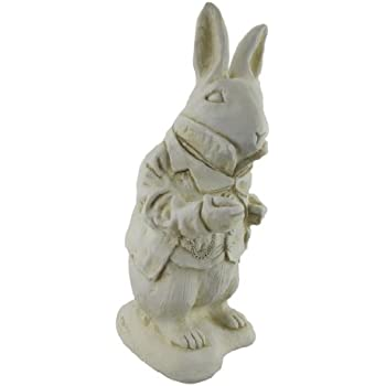 Alice In Wonderland White Rabbit Garden Statue Museum White