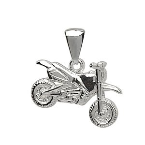 1001 Bijoux - Pendentif Moto cross en argent 00632