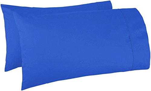 600 Thread Count 100%Egyptian Cotton Pillow Cases, Royal Blue Standard Pillowcase Set of 2, Long-Staple Combed Pure Natural 100% Cotton Pillows for Sleeping, Soft & Silky Sateen Weave Bed Pillow Cover