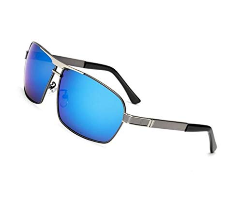 voyager soleil en polarisées lunettes Mode de air UV400 bleu Huyizhi conduite soleil Bleu plein la de en protection lunettes métal Cool de lunettes v1qUnUf