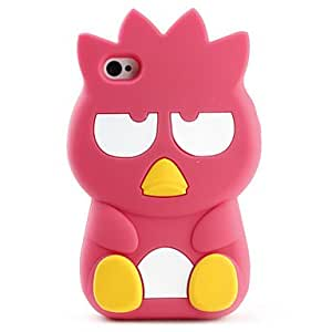 JJECartoon Animal Design Soft Case for iPhone 4 and 4S (Assorted Colors) , Red