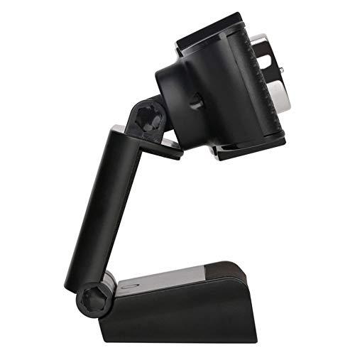 Negro Silverdewi C/ámara web USB HD C/ámara giratoria de PC con enfoque manual C/ámara de computadora de 12MP Grabaci/ón de videollamadas C/ámara web con micr/ófono absorbente de sonido