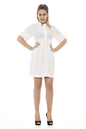 Summer Wwabi0387 Dress Bianco P004 Abito Woolrich Donna dWA1n4qpd