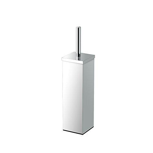 Gatco Chrome Toilet Brush (Gatco 1488 Elegant Square Toilet Brush Holder, Chrome)