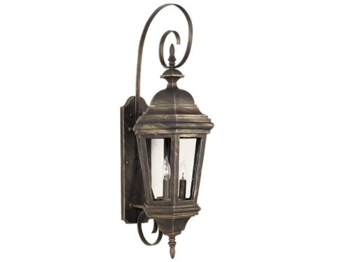 Kenroy Home 16314AP Estate Wall Lantern Outdoor Fixture, Antique Patina, Antique Patina