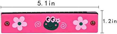 Blue + Pink Milysa Harmonica Popular Kids Clearly Colorful Translucent Interesting 1 Pack of 2