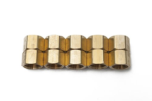 Generic Brass Pipe Cap Fittings 3/8'' NPT Air Fuel Water Boat(Pack of 10) by Generic