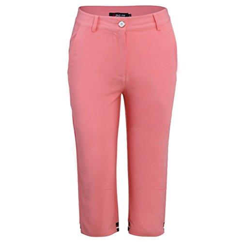 甘美な締める妊娠したGoodgoods 短パン レディース ゴルフウェア ショートパンツ 薄手 パンツ 女性用 7分丈 021-xsty-kuz033(M ピンク)
