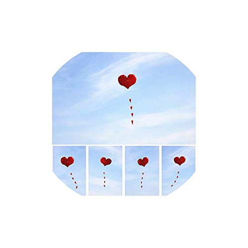Kites Love Heart Soft Kites Flying for Adults Ripstop Nylon Windsock Paragliding Kites for Adults -