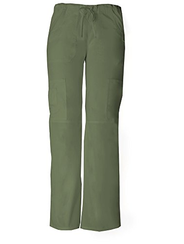 - Dickies Women's EDS Signature Low Rise Drawstring Cargo Pant, Olive, Large