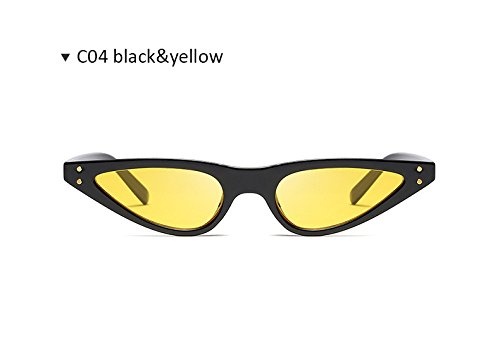 Fiesta Limotai amarillo Lady Viajes Show Sol Gafas Solocean Rivet Black Retro Lens para Gafas De T Grey Kitten Sol Color Uv400 Triangle negro Gafas Mujer Driving Eye De De Shopping fqvfwrRn