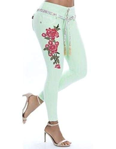 Zalock - Jeans - Femme Vert Clair