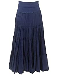 Forever Maxi Tier Skirt with Rolldown Waistband Style VL-27