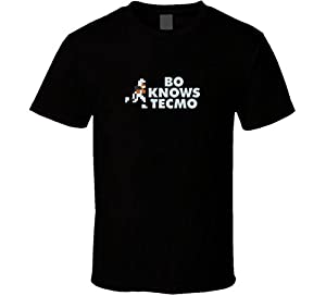 Bo Jackson Bo Knows Tecmo Bowl T Shirt - Black