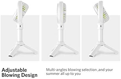 Color : White, Size : 2000mah Portable Handheld USB Fan 3-Speed Air Cooler Small Desk Desktop Table Office Fan Rechargeable Mini Fan 2000mAh//3350mAh