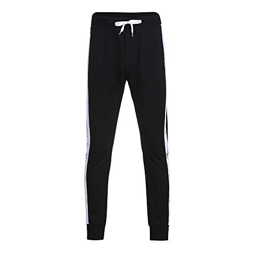 Ringer T-shirt Kids Fish (Sunhusing Men's Spring Autumn Sports Casual Pants Letter Print Stitching Stripe Drawstring Lace-Up Trousers)