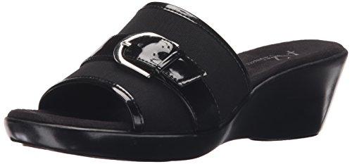 A2 Da Aerosol Donna Occhi Su Di Voi Sandalo Con Zeppa Scorrevole Nero Elasticizzato