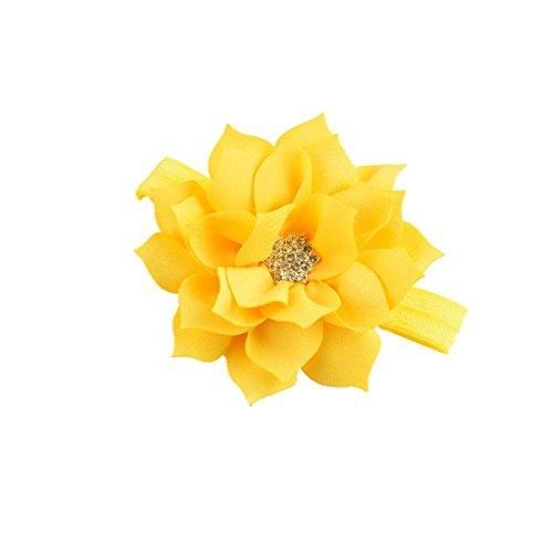 LD DRESS New Girl Baby Headbands (1) (Yellow) (Yellow Elastic Headband)