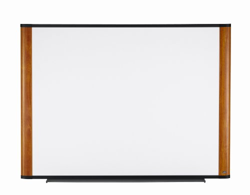 3M Dry Erase Board, 48 x 36-Inches, Widescreen Light Cherry Finish Frame