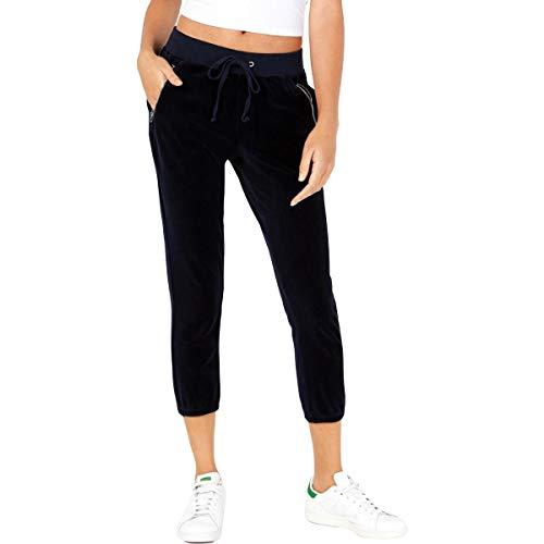 Juicy Couture Women's Track Velour Silverlake Pants Regal Large 24
