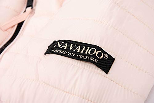 mujer capucha acolchada con Navahoo Chaqueta para Rosa B348 wtXqx5ax
